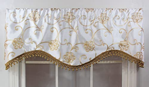 RLF HOME Ivory Florence Cornice Window Dressings Valance