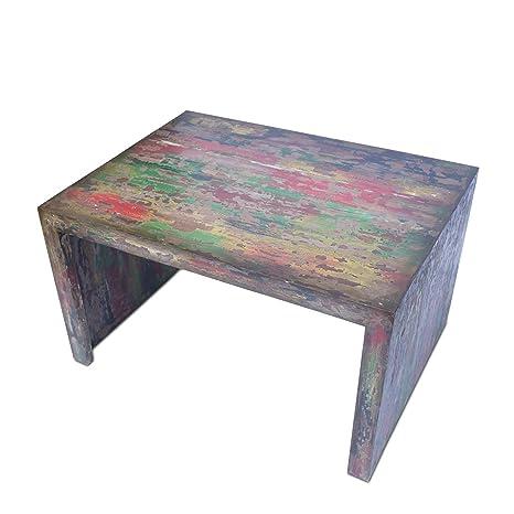 Tavolo Legno Colorato.Fahome Tavolino Da Salotto Soggiorno Tavolo In Legno Mobili