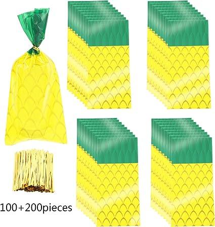 Amazon.com: 100 bolsas de celofán de piña para regalos de ...