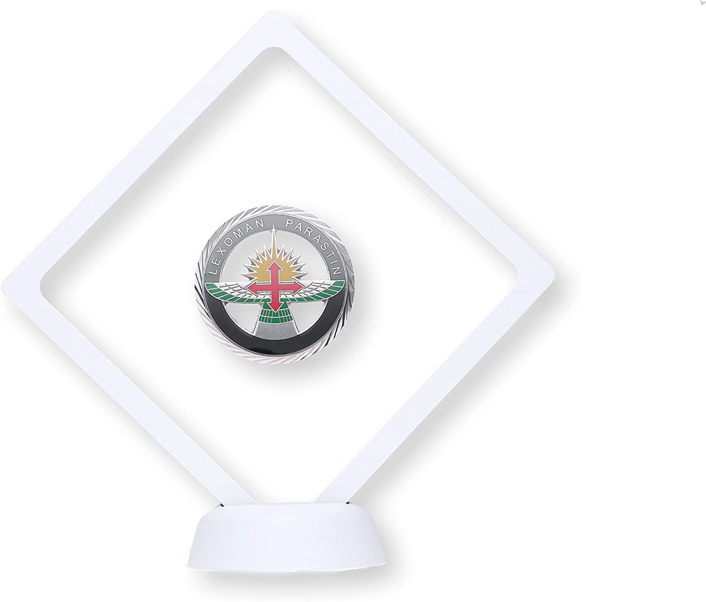 YDoG Marco en 3D para Objetos, con Membrana de Silicona, de 10,8 cm x 10,8 cm x 2 cm, en Color Blanco, valioso y Llamativo Objeto