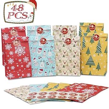 Amazon.com: Asubaby - 48 bolsas de papel para fiestas ...