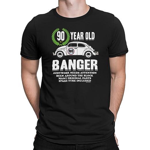 Mens 90th Birthday Small Black T Shirt Old Banger Gift