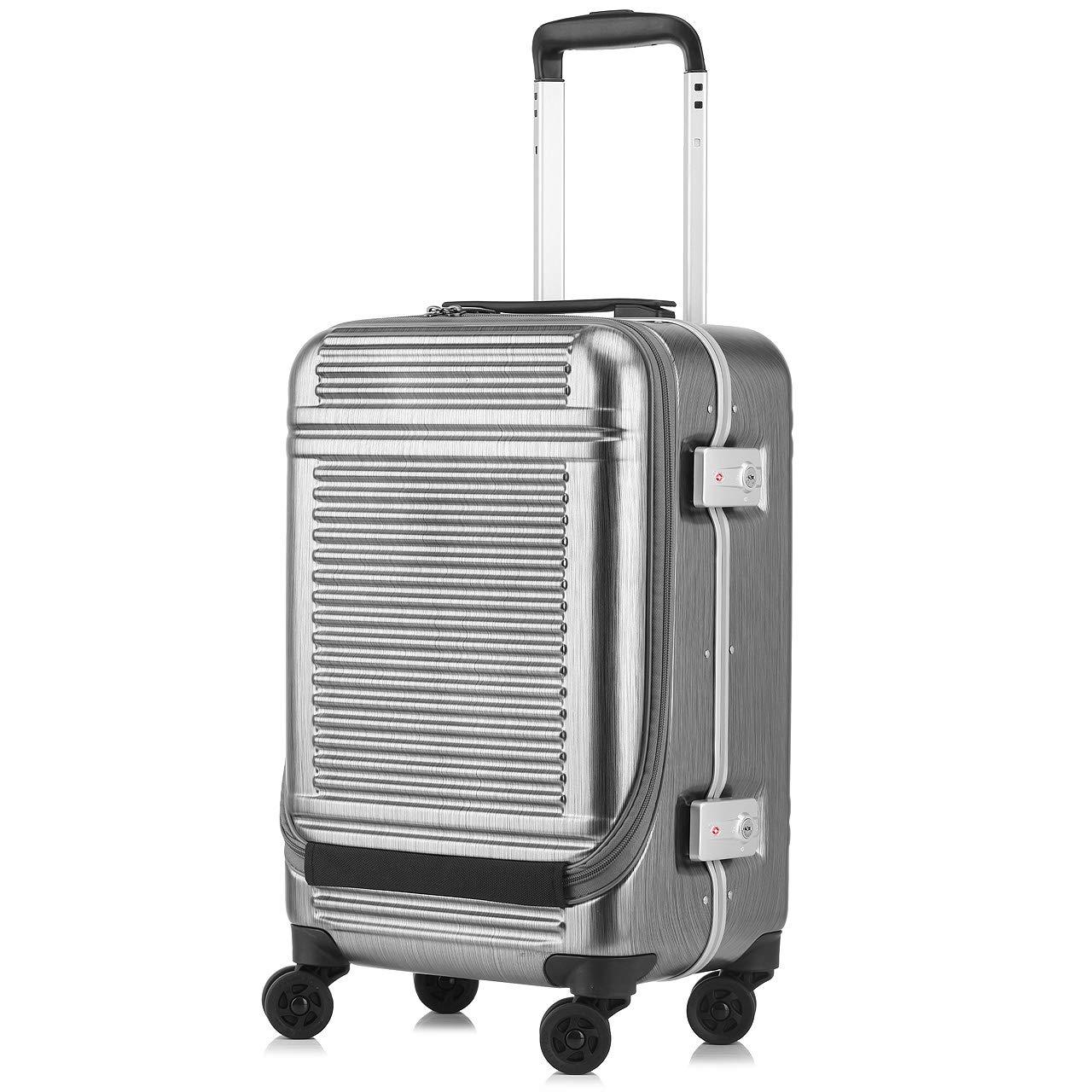 [SUNCO(サンコー)] スーツケース WORLD STAR W(ワールドスターW) 30L 48cm 3.8kg WSW1-SF  ヘアラインシルバー B07KY8TWP2
