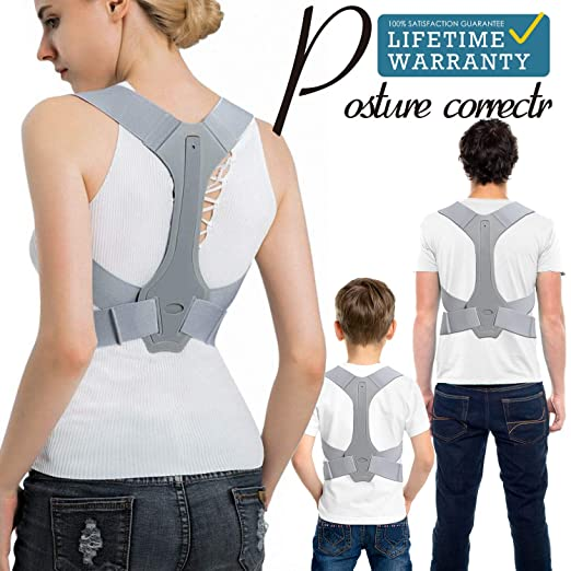 anzoee Posture Corrector for Men & Women - USA Designed Upper Back Brace for Clavicle Support & Providing Pain Relief from Neck, Back & Shoulder(Medium) best men's posture corrector