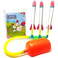 Toiing RockeToi - Triple Stomp Rocket, Fun Outdoor Toy for Boys and Girls, Excellent Birthday Gift for Children