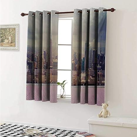 Amazon.com: shenglv Modern Customized Curtains New York City ...