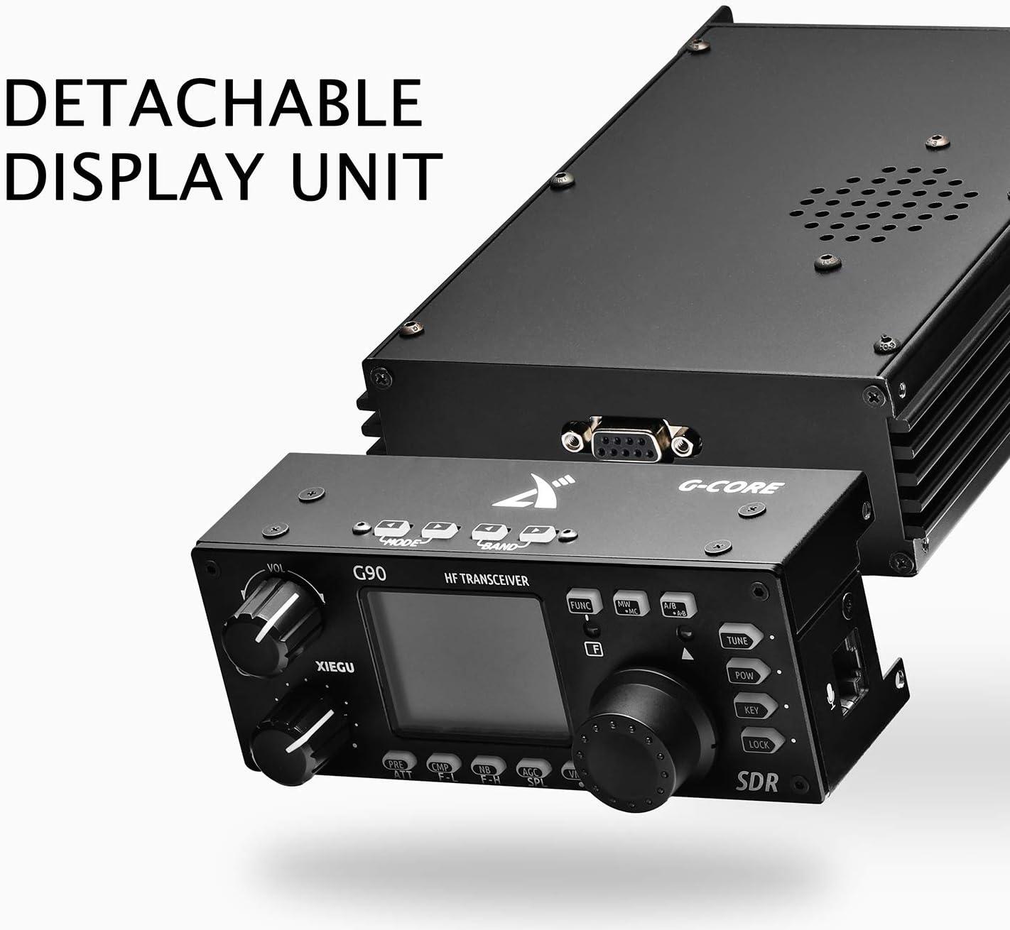 Xiegu G90 Transceptor de HF 20 Watt Radio HF SSB/CW/Am/FM SDR Structure with Built-in Auto Antenna Tuner