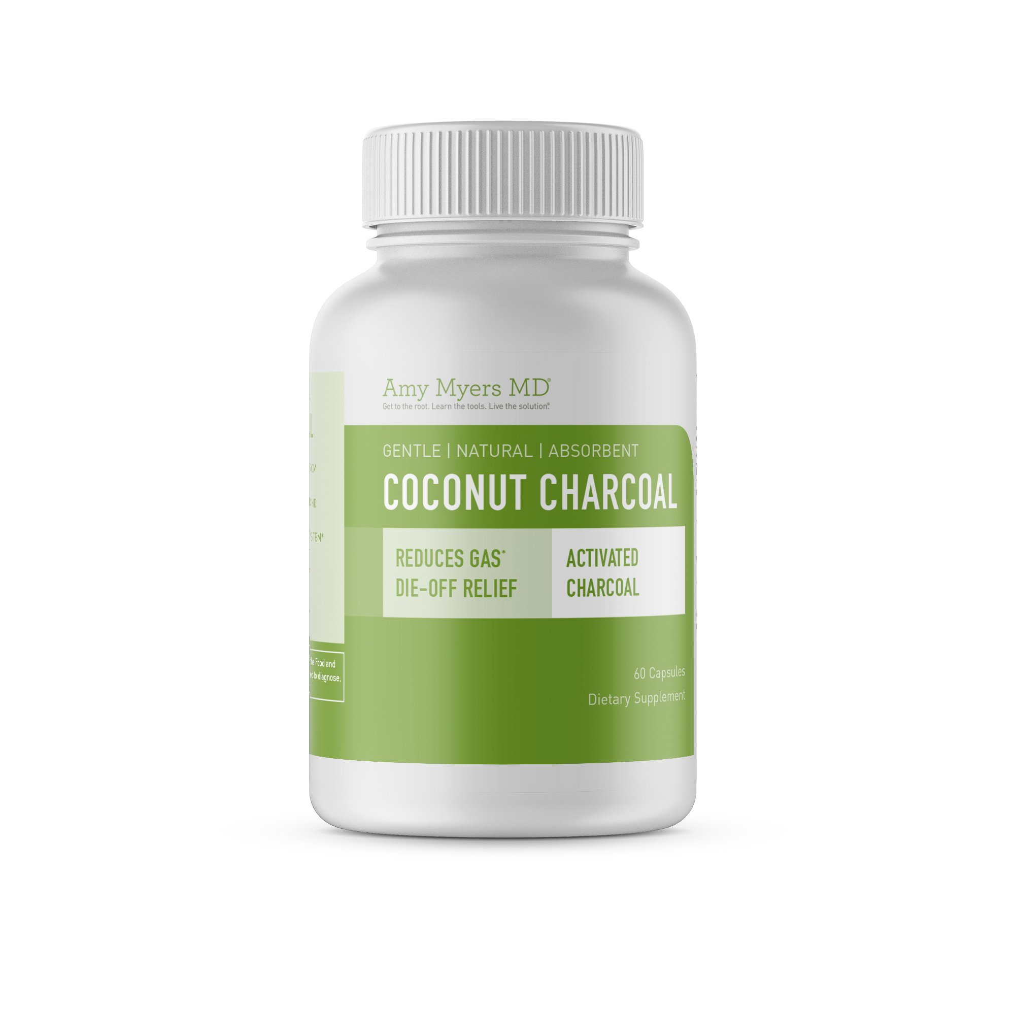 Coconut Charcoal Capsules from The Myers Way Protocol – Natural Activated Charcoal, Gas Reliever & Support For Affects Of Mold/Toxins – Dietary Supplement 60 Capsules, 30 Servings – From Dr. Amy Myers