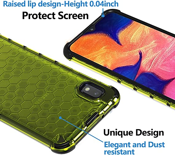 Ferilinso Funda para Samsung Galaxy A10 [Transparente TPU Silicona Carcasa] [10X Anti-Amarilleo] [Compatible con la Cristal Templado Protector de Pantalla][Anti-arañazos] [Fácil instalación](Verde): Amazon.es: Electrónica