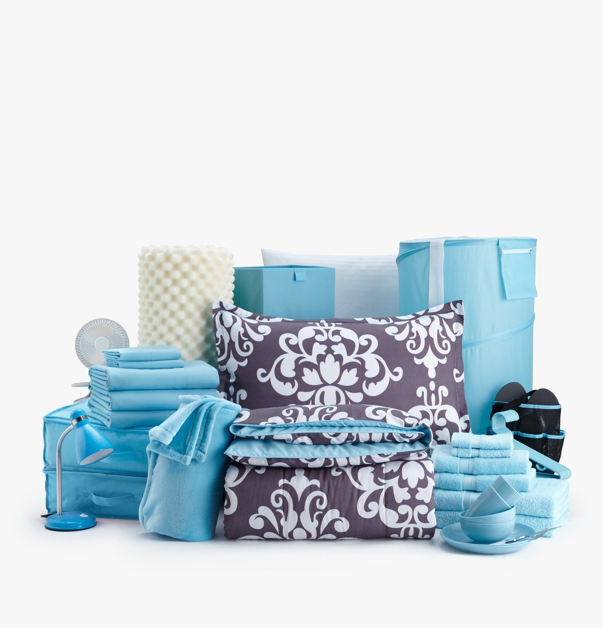 Dorm It Up - The Good Life Set - Twin XL College Dorm Room Bedding (Chic)