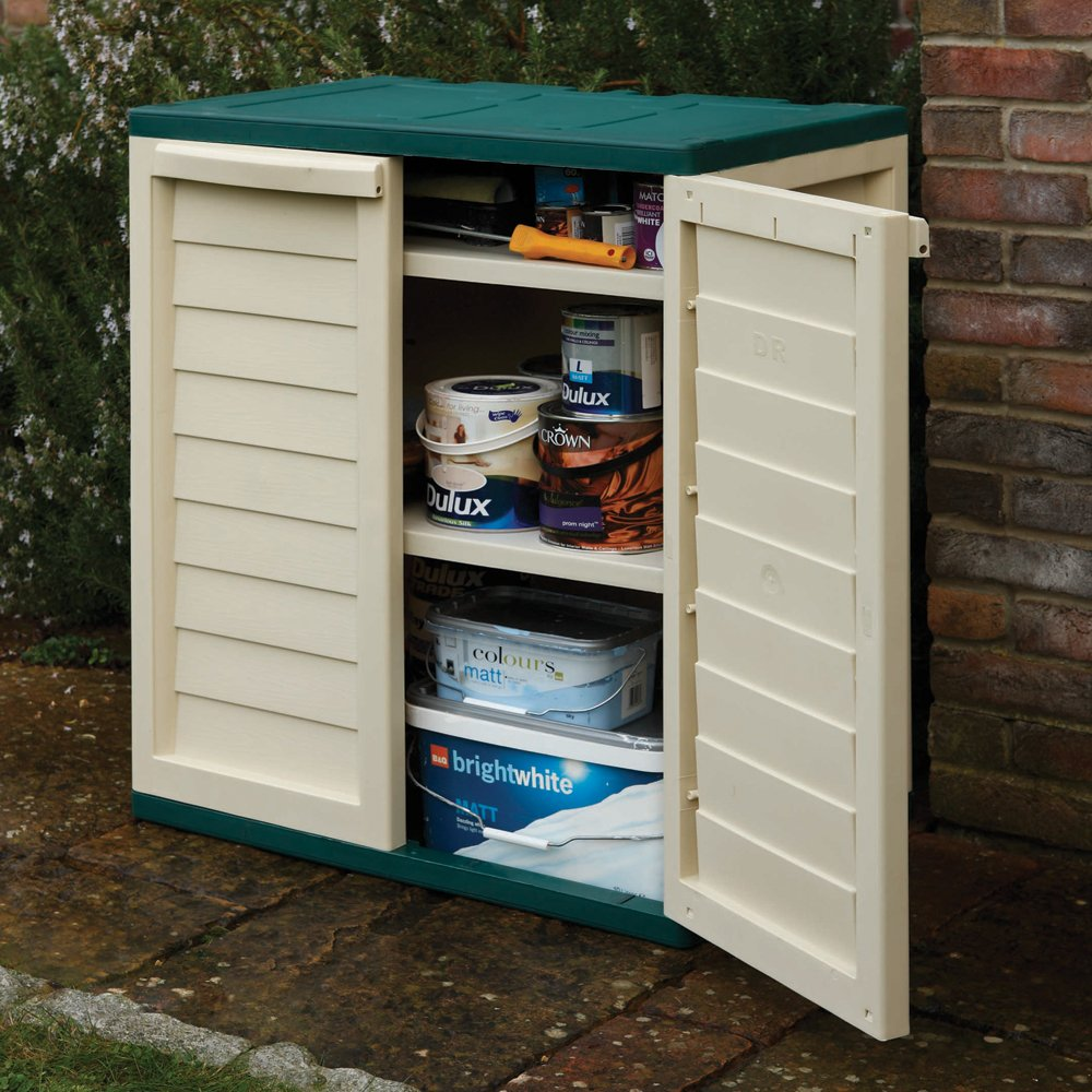 Rowlinson Plastic Utility Cabinet - Green and White: Amazon.co.uk ...
