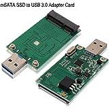 mSATA SSD Adapter to USB 3.0, Tanbin Mini SATA Use as Portable Flash Drive/External Hard Drive, 50mm Mini PCIe Solid…
