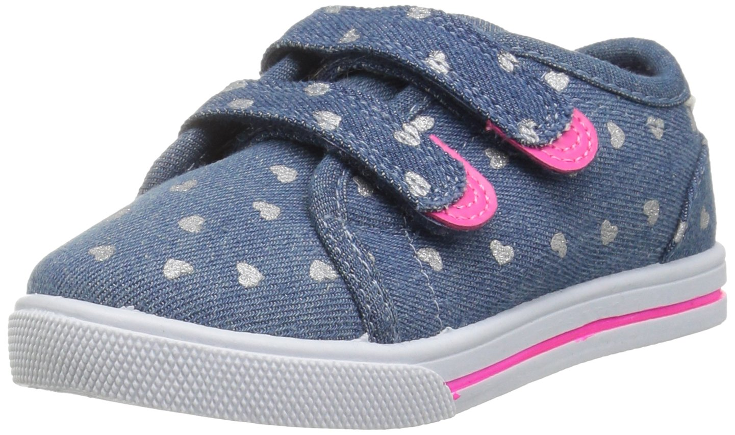 Carter's Girls' Nikki2 Casual Sneaker, Blue, 11 M US Little Kid