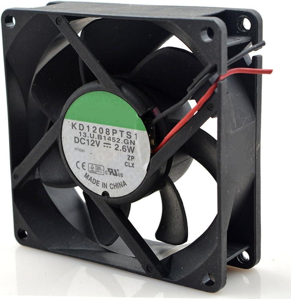 2.6W KD1208PTS1 12V 2.6W 12V 1.8W//2.6W 2Wire Cooling fan 8cm 8025 80x80x25mm 8cm 37CFM