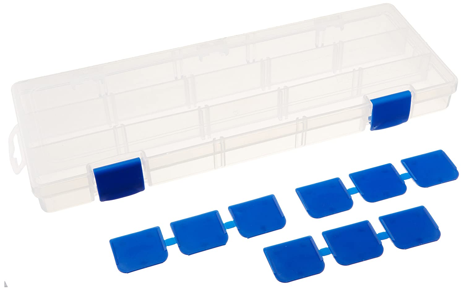 Flambeau Tuff Tainer See-Through Storage Box 2 Dividers 4 Fixed Compartments