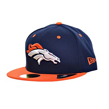 83b97b06024 New Era NFL 59Fifty Denver Broncos Fitted Hats Athletic Caps Navy Blue  Orange 10628668 (
