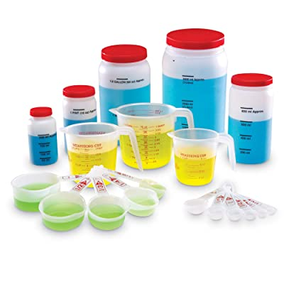 Learning Resources Classroom Liquid Measuring Set, Science Classroom Accessories, Teacher Aids, 19 Piece Set, Grades K+, Ages 5+ (LER0360),Multi-color: Office Products