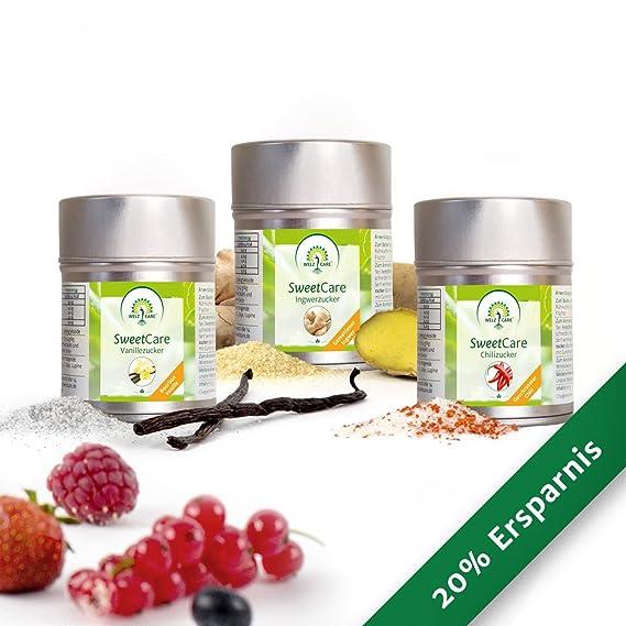 Vainilla SweetCare, jengibre, Chili-la sustitución de azúcar con Erythritol y Stevia,