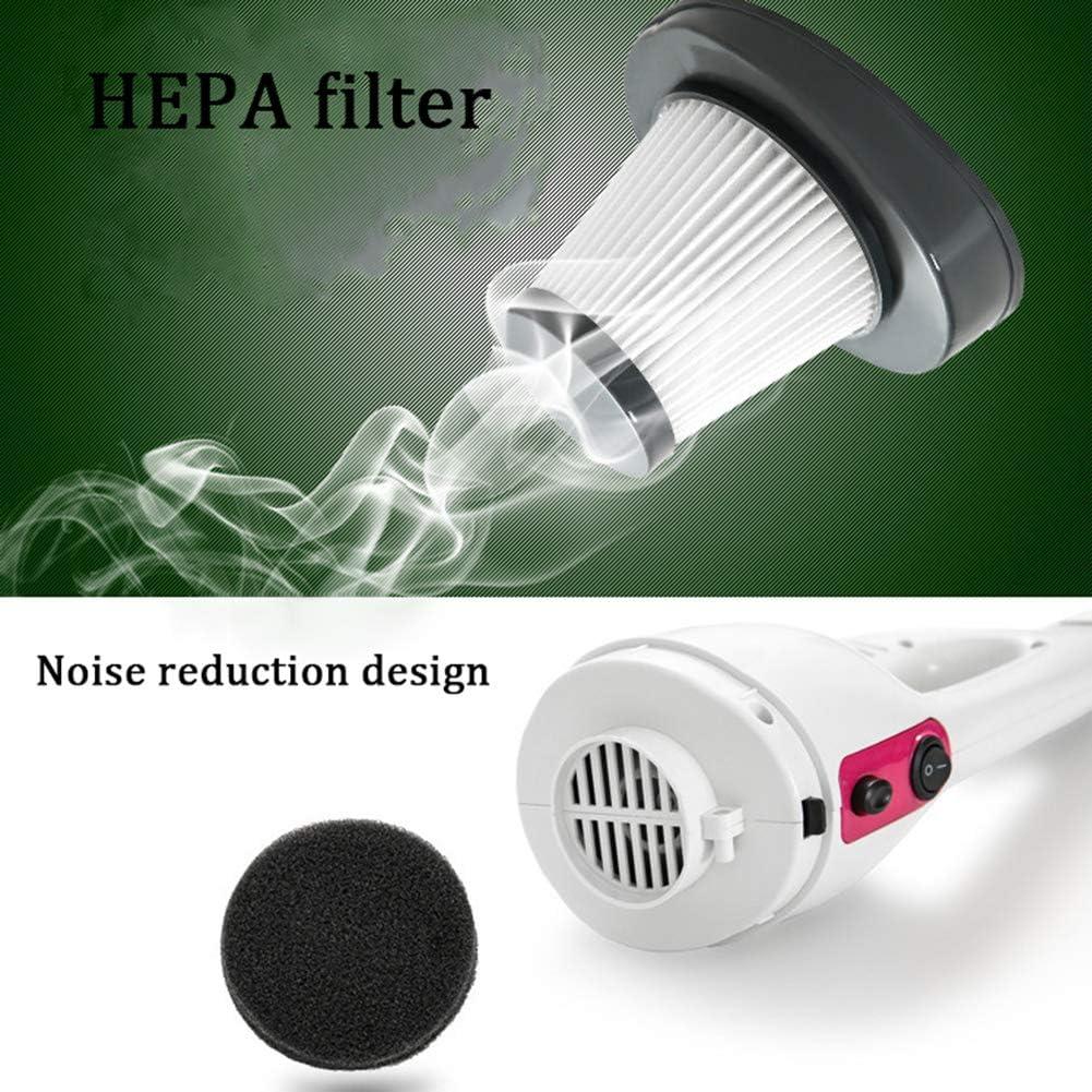 LAHappy Aspirateur à Main Aspirateur de Voiture Puissant Portable avec Filtre HEPA pour Maison, Voiture, Table, Bureau,Rose Blue