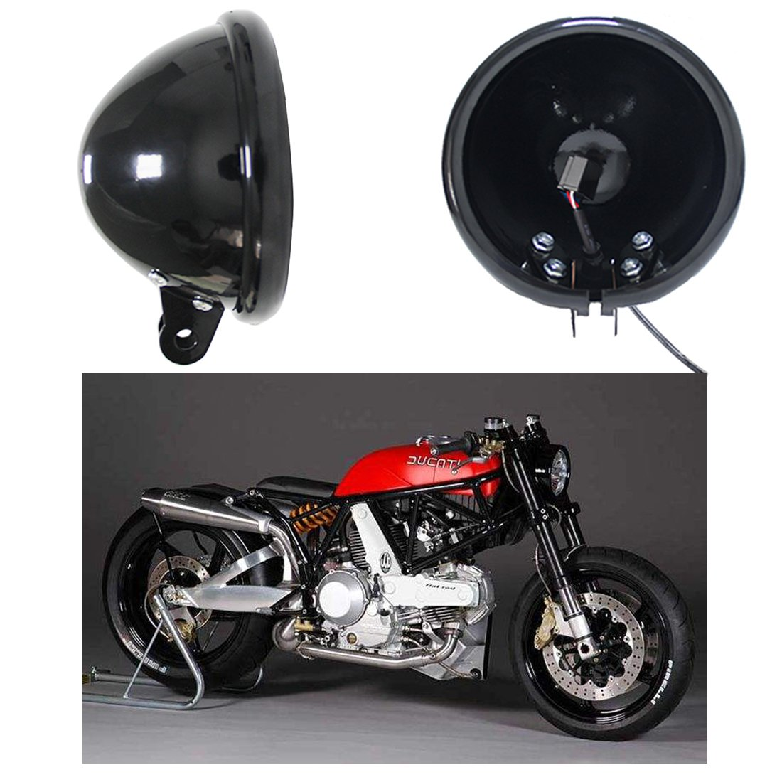 SKUNTUGUANG 5.75 Inch Motorcycle Led Headlight Housing bucket Bracket for Harley Davidson