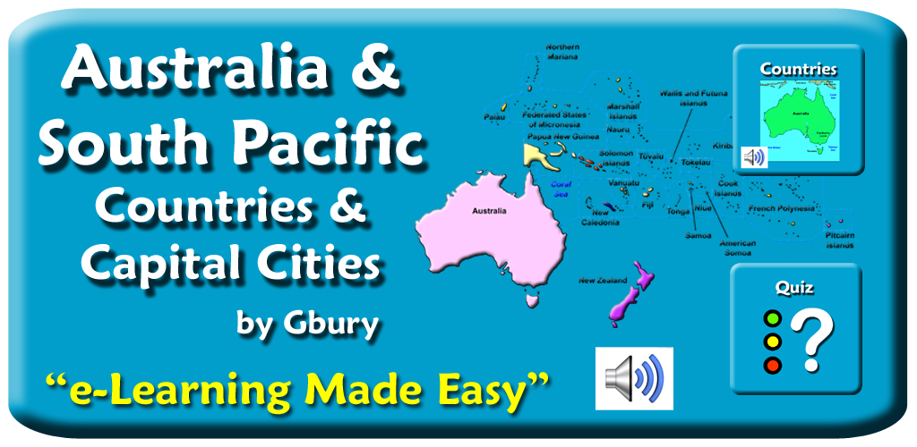 Amazon Com Australia And South Pacific Countries And Capital Cities Appstore For Android