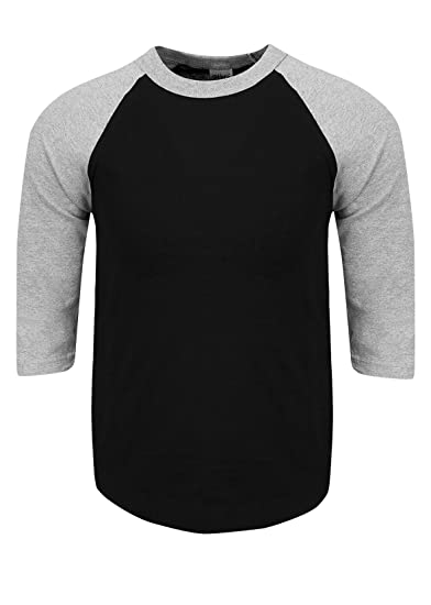 f4cb66c9ca9 RA0205 S Baseball T Shirts Raglan 3 4 Sleeves Tee Cotton Jersey S-5XL Black