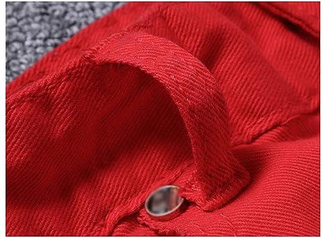 WFL Pantalones, Estampados Antiguos, pies Rojos, Jeans para Hombres, Medias Blancas, Pantalones Vaqueros básicos de Talle Medio: Amazon.es: Deportes y aire ...