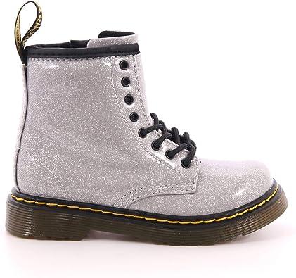 il cameriere Generalizzare spicca  DR MARTENS Bambina Anfibio 1460 Glitter T Argento Mod. K1460GLSL:  Amazon.fr: Chaussures et Sacs