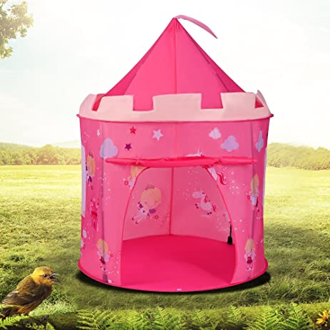 PEPECO Castle Princess Play TentDeluxe Pink Pop-Up Fairy Playhouse for Indoor u0026 & Amazon.com: PEPECO Castle Princess Play TentDeluxe Pink Pop-Up ...