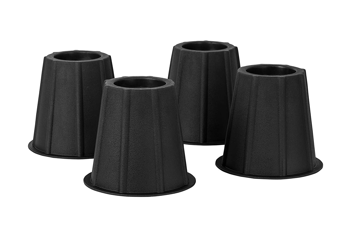 Home-it® 5 to 6-inch SUPER QUALITY bed risers, Black round shaped, bed riser helps you storage under the bed 4-pack