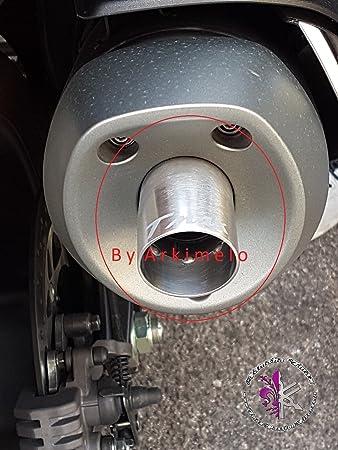 Eco con incisione x Tmax da 2012 a 2016 tromboncino exhaust spout Beccuccio Mod