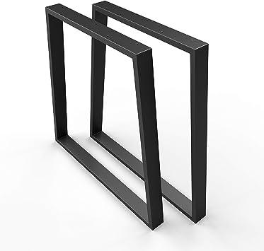 Profi Tischgestell-SCHWARZ Schreibtisch Gestell Verstellbar in BREITE und HÖHE