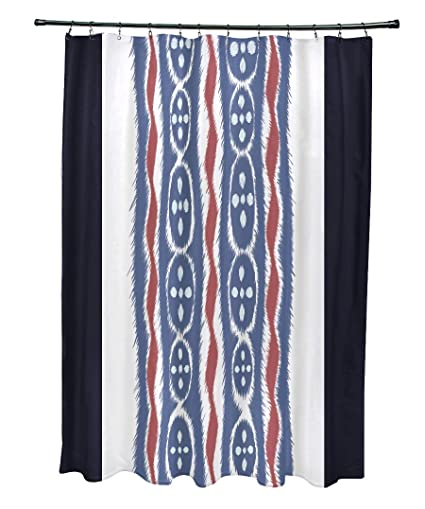 Ebydesign Ikat Ribbon Stripes Print Shower Curtain Bewitching
