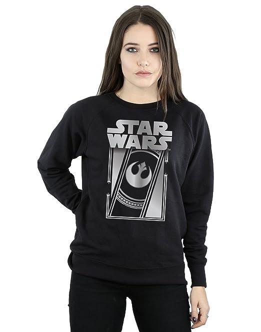 STAR WARS Mujer The Last Jedi Frame Metallic Camisa De Entrenamiento: Amazon.es: Ropa y accesorios