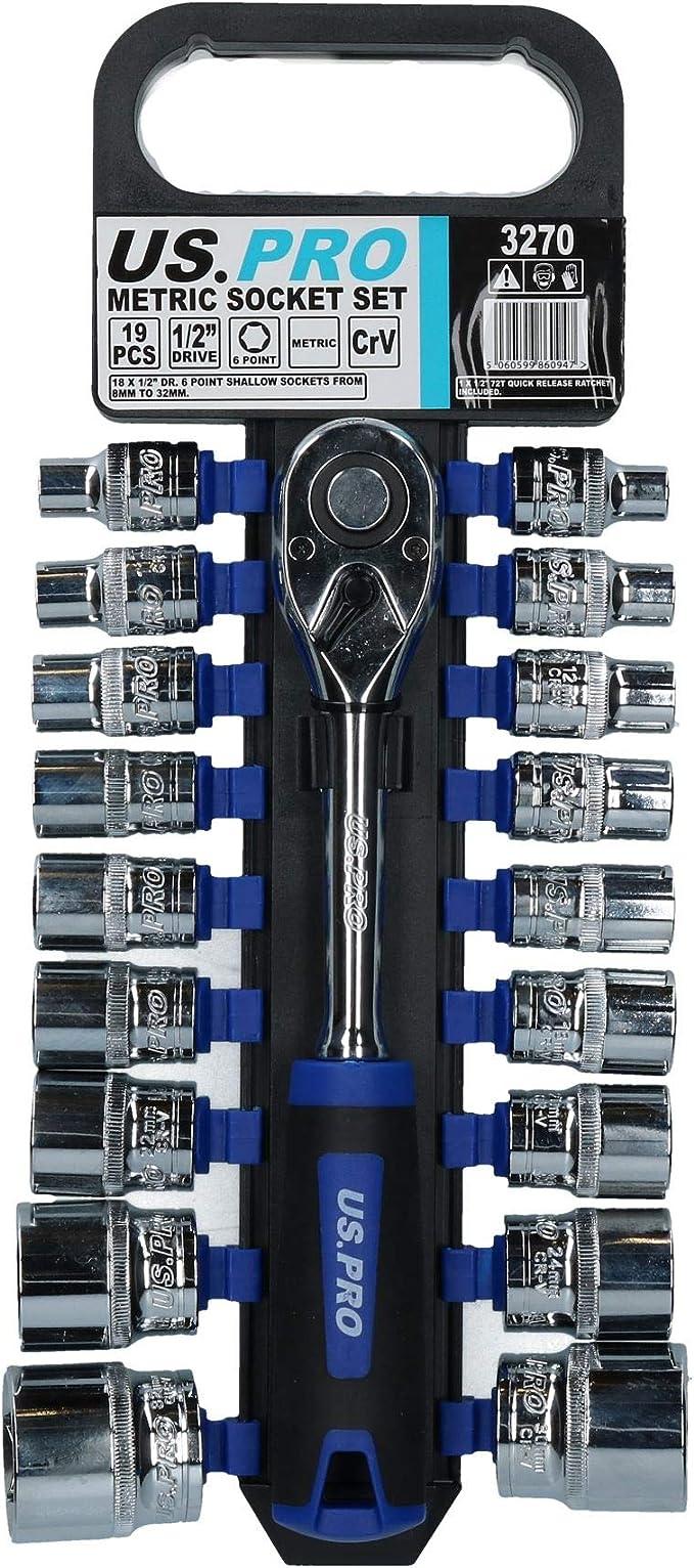 """32mm 1//2/"""" Drive Metric MM Super Lock Shallow 6 Sided Sockets Socket 10mm"""