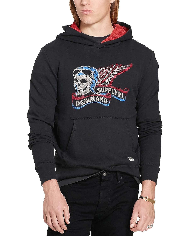 787607f4 Polo Ralph Lauren Denim & Supply Ralph Lauren Mens Skull Graphic Hoodie  Black XL