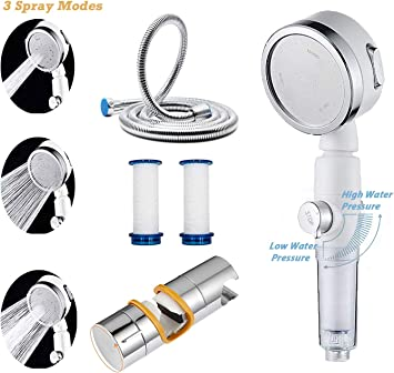 High Pressure Shower Head For Low Water Pressure With Stainless