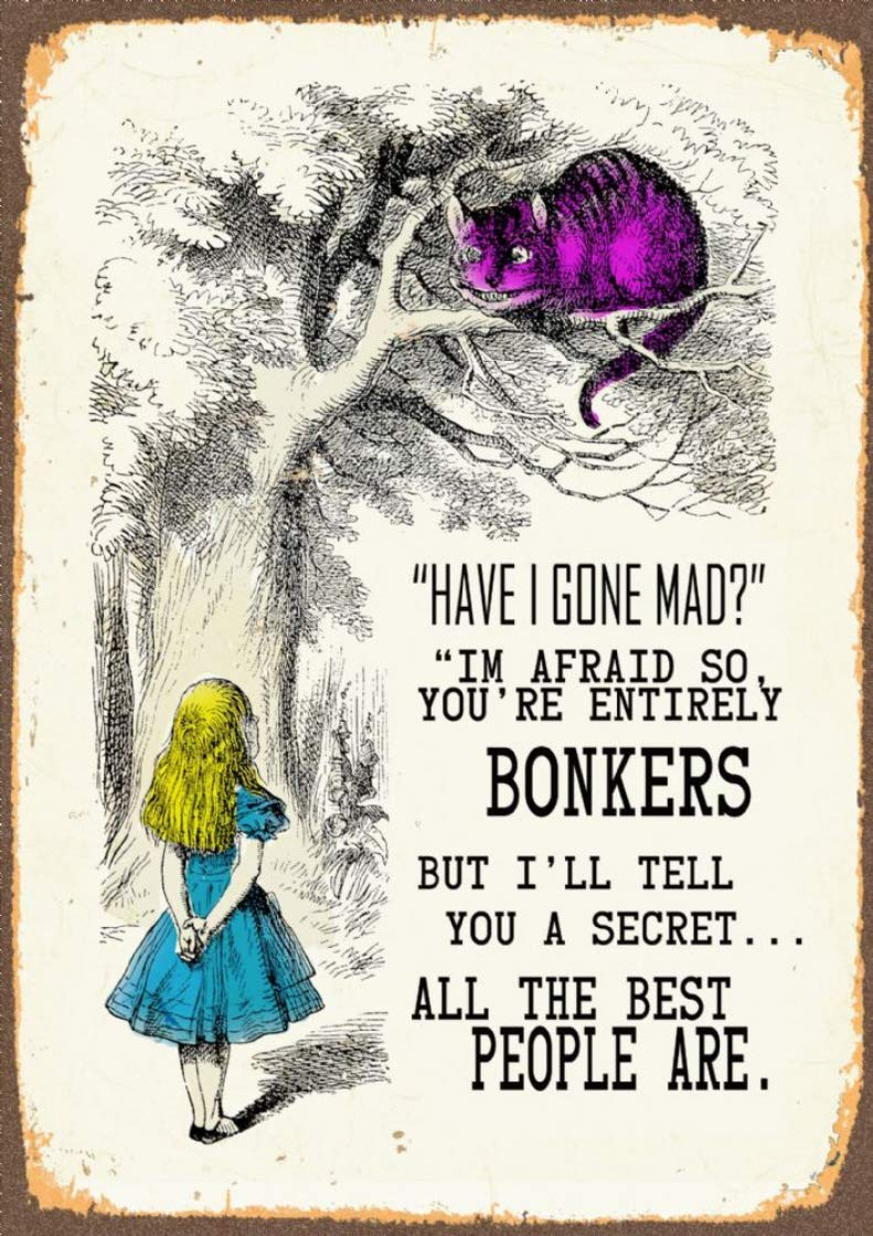 mumscraftybits Alice in Wonderland quote print on 230gsm photo quality paper size A4