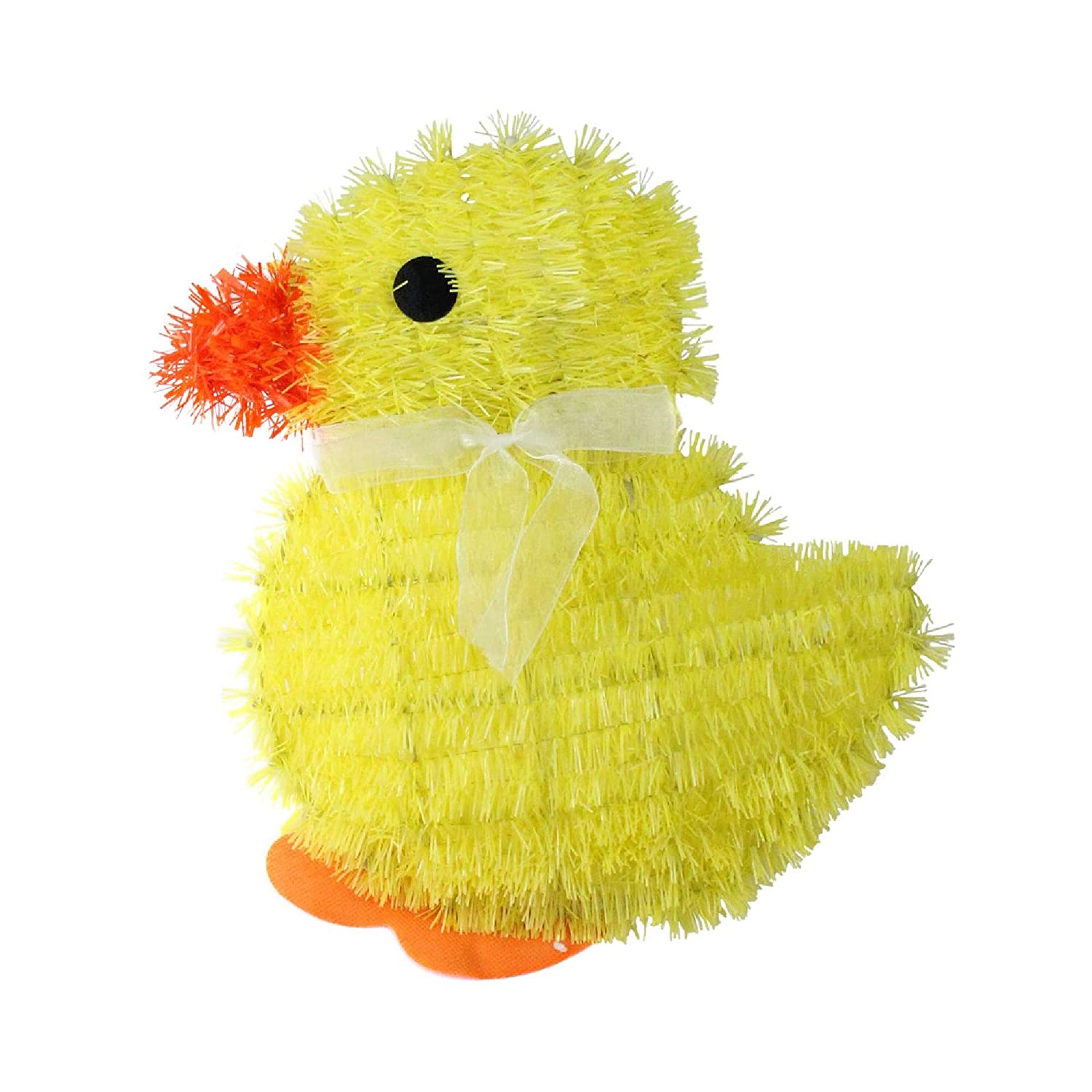 Northlight 11.5 Yellow Tinsel Easter Chick Spring Window Decoration