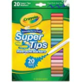 Washable Markers, Super Tip, 20/PK, Assorted, Sold as 1 Box