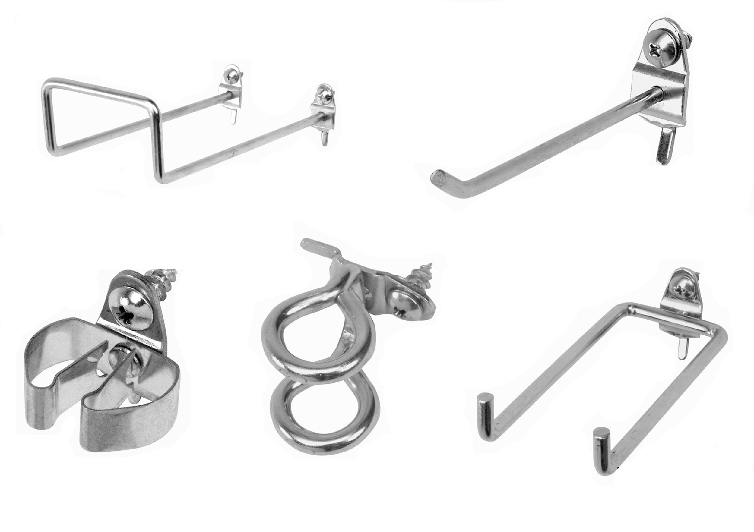 Triton Products 532-2 DuraHook 64 Pc Zinc Plated Steel Hook Assortment for DuraBoard or 1/8 Inch and 1/4 Inch Pegboard