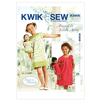 Amazon.com: Kwik Sew K3905 Abigail and Little Abby Made to Match ...