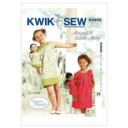 ea152a4a9 Kwik Sew Patterns K3905 Size Extra-Small 4-5/ Small 6/ Medium 7-8 ...