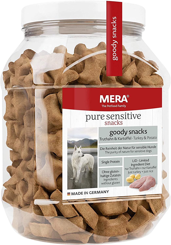 MeraDog Pure Sensitive Goody Snack Truthahn & Kartoffel 600g
