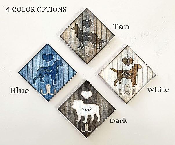 Personalize Custom Made Artwork by Dan Morris Add Dog Name Rhodesian Ridgeback Dog Breed Leash Hook \u00a9Dan Morris Leash collar hanger