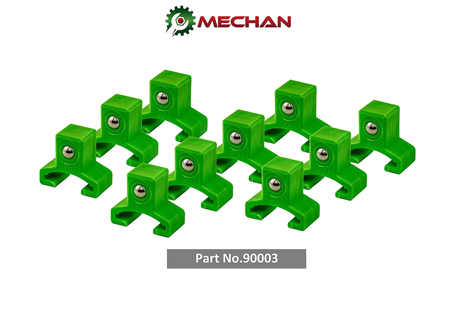 3//8 Drive 10pc. Pack, Green Firm /& Secure Socket Holders - Socket Organizer Holder Rail Replacement Clips Mechan Tools 10pc 3//8 Spring Loaded Ball Bearing Socket Clips Replacement 80001