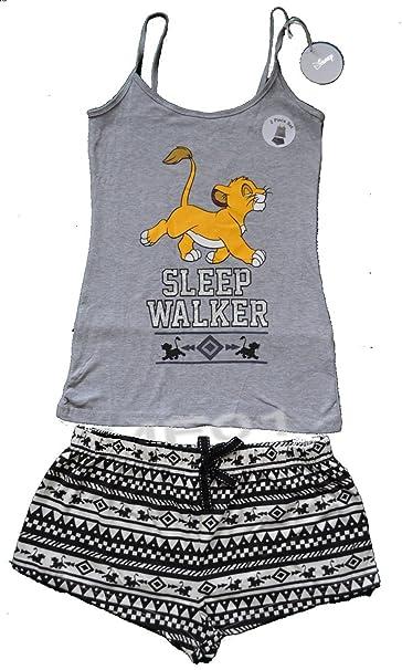 MISS FASHION Conjunto de Pijama y Pantalones Cortos para Mujer, diseño de león
