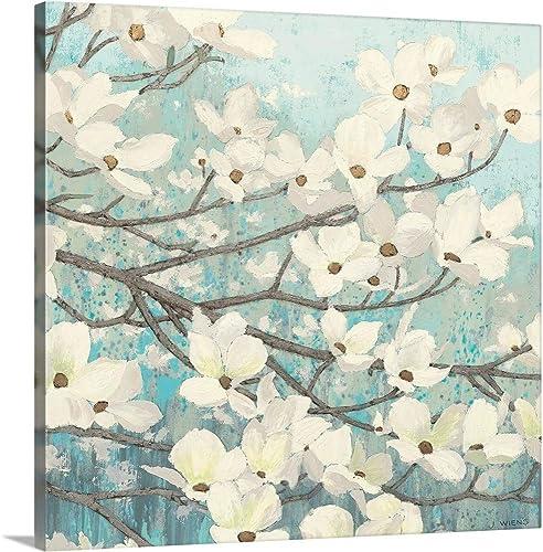 Dogwood Blossoms II Canvas Wall Art Print