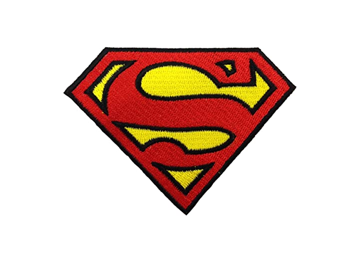 Amazon Superman Logo Embroidered Iron Patches Clothing