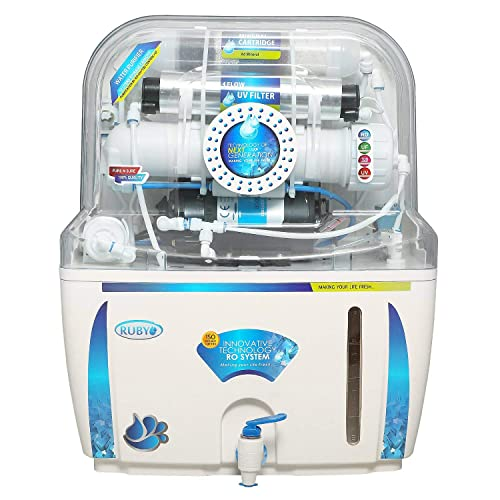 2. Ruby Water Purifier RO+UV+UF+TDS Controller+MAT 12 Stage Purification White & Blue with 12 Litres Storage for Home and Office use With Pre-Filter,Sediment Filter,Activated Carbon & Mineral Filter Cartridge